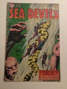 Sea Devils 9 Vg Very Good 4.0 Bottom Staple Detached Dc