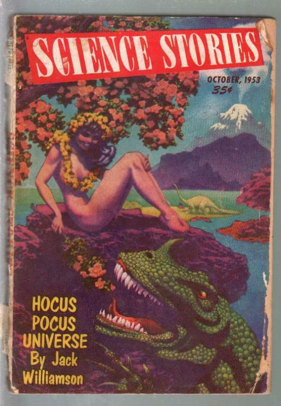 Science Stories #1 10/1953-1st issue-Hannes Bok-Jack Williams-pulp fiction-FR