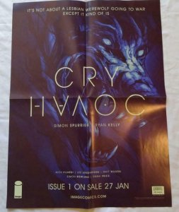 CRY HAVOC Promo poster, 18 x 24, 2015, IMAGE, Unused, Werewolf   004