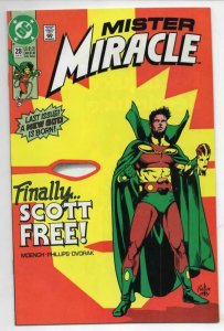 MISTER MIRACLE #28 VF/NM God Spawn Last issue 1989 1991 more DC in store