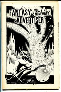 Fantasy Advertiser 11/1949-Lin Carter-Clark Ashton Smith-pulp & sci-fi info-FN