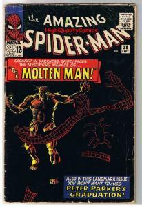 AMAZING SPIDER-MAN #28, 1st Molten Man, Ditko, 1963, VG