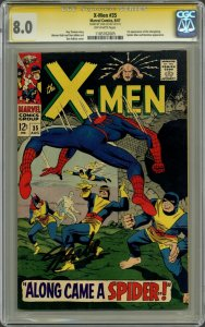X-Men #35 Spider-Man! CGC 8.0 OW SS Signature Series Signed by Stan Lee!