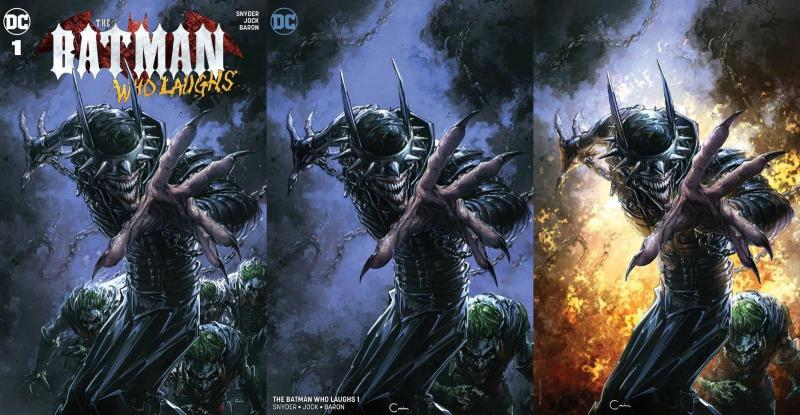 THE Batman Who Laughs #1 Clayton Crain Variant 3 Pack Virgin Set SCORPION COMICS