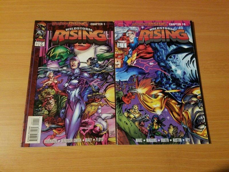 Wildstorm Rising 1-2 Complete Set Run! ~ NEAR MINT NM ~ 1995 Image Comics