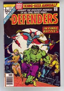 Defenders King-Size Annual, The #1 (Jan-76) VF/NM High-Grade Hulk, Dr. Strang...