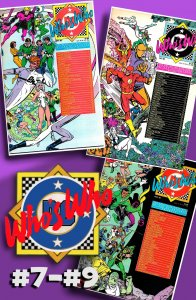 Eclipso! Flash! Green Lantern!  WHO'S WHO: DEFINITIVE DIRECTORY of DCU #7 to #9