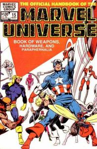 Official Handbook of the Marvel Universe (1983 series) #15, VG- (Stock photo)