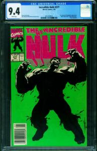 INCREDIBLE HULK #377-CGC 9.4 1st Professor Hulk-unpressed 2014539011