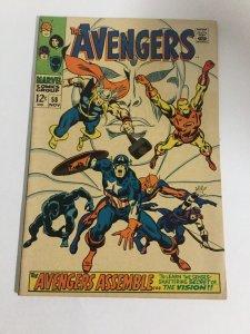 Avengers 58 Fn/Vf Fine/Very Fine 7.0 Marvel Comics Silver Age