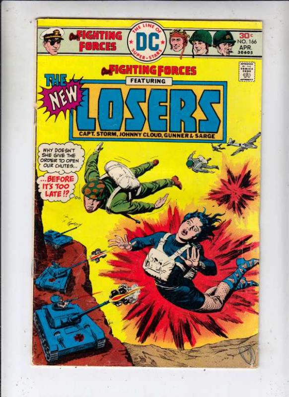 Our Fighting Forces #166 (Apr-76) FN- Mid-Grade The Loosers