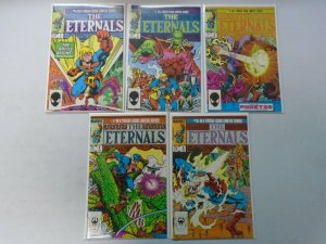 The Eternals lot 10 different issues from #1-12 8.0 VF (1985-86 2nd Series)