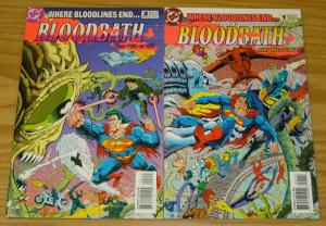 Bloodbath #1-2 VF/NM complete series - batman superman bloodlines set lot 1993