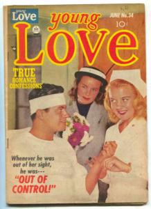 Young Love #34 1952- Nurse cover- Golden Age Romance FN-
