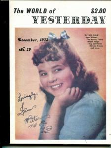 World of Yesterday  #19 12/1979-Jane Withers-Mauch Twins-Mickey Mouse-FN
