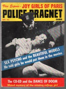Police Dragnet Cases 9/1961-Joy Girls of Paris-pulp crime-posed pix-VG-