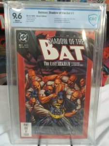 Shadow of the Bat #1 - CBCS 9.6 - NM+ - 1st App. Victor Zsasz - EXTRAS!