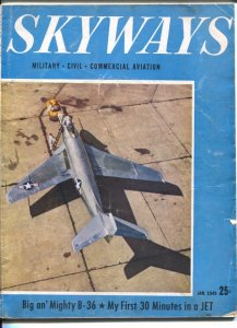 Skyways 1/1949-McDonnell XF-88 photo cover-pix-info-military aircraft-VG