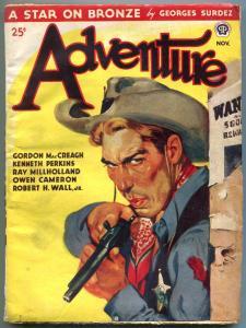 Adventure Pulp November 1945- Star on Bronze- Ray Millholland VG/F