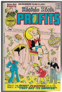 RICHIE RICH PROFITS 8 VG-F Dec. 1975