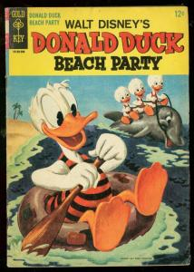 DONALD DUCK BEACH PARTY #1 1965-GOLD KEY COMICS BARKS VG