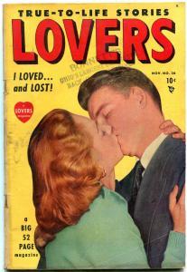 Lovers #26 1949- Golden Age Romance Comic- VG