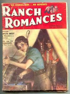 Ranch Romances Pulp 1st July 1955- Girl on the Tomahawk