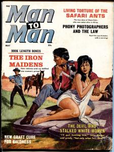 MAN TO MAN May 1962 Spicy SYD SHORES cover exploitation pulp bad mags