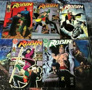 ROBIN (1990) 1-5 FIRST SERIES, WITH BATMAN!!!