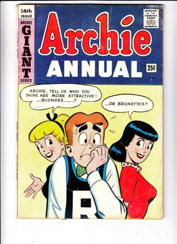 Archie Annual #14 (Jan-63) VG Affordable-Grade Archie, Betty, Veronica, Reggi...