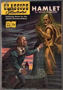 Classics Illustrated #99 1952-HRN 98-Hamlet-Shakespeare-Alex Blum-VG