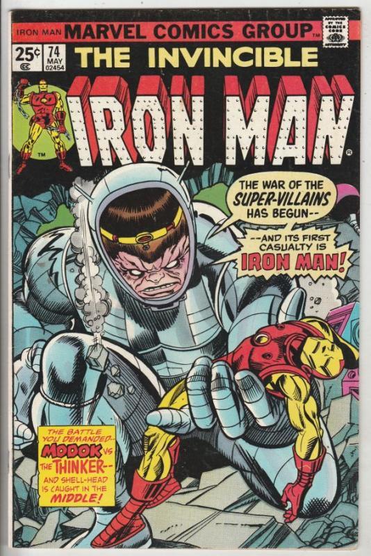 Iron Man #74 (May-74) NM- High-Grade Iron Man