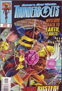 Thunderbolts signed #15 (Jun-98) NM- High-Grade Thunderbolts