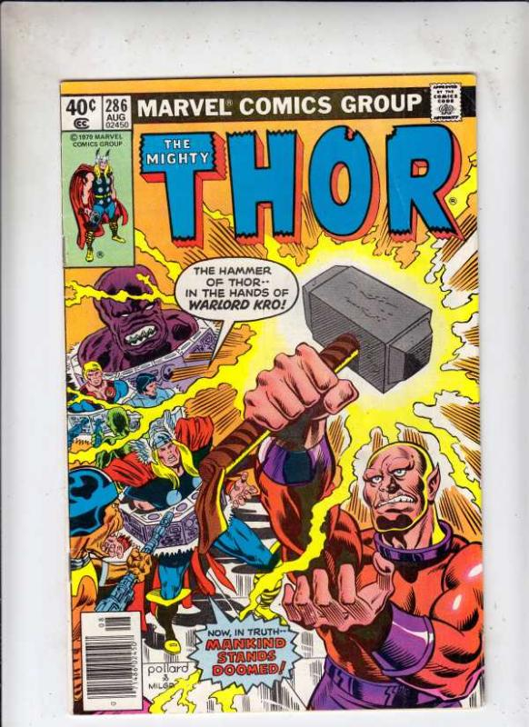 Thor, the Mighty #286 (Aug-80) FN Mid-Grade Thor