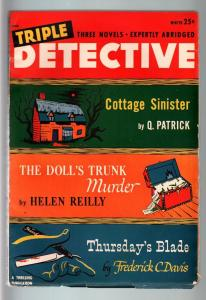 TRIPLE DETECTIVE WINTER 1948-HELEN REILLY-HARD BOILED PULP VG/FN
