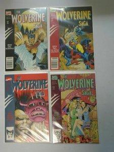 Wolverine Saga #1 to #4 set 4 different books 6.0 FN (1989)