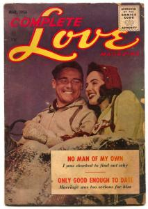 Complete Love Magazine Vol. 32 #1- No Man of My Own