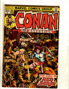 Conan The Barbarian # 24 VF/NM Marvel Comic Book Elric Red Sonja Kull King RS2