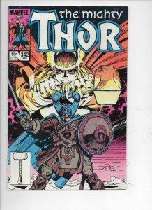 THOR #342 VF/NM God of Thunder Simonson 1966 1984, more Thor in store, Marvel