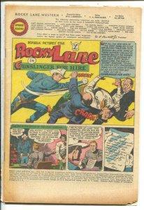 Rocky Lane Western #33-1952- B-Western movie star-Gunslinger For Hire-P