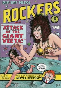 ROCKERS #6, VF+, Crabb, Rip Off Press, 1985 1989 more Indies in store