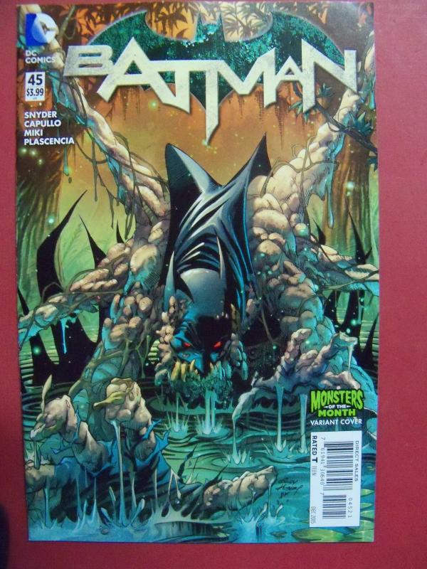 BATMAN #45 MONSTERS OF THE MONTH Variant Cover 2015 Near Mint 9.4 Or Better