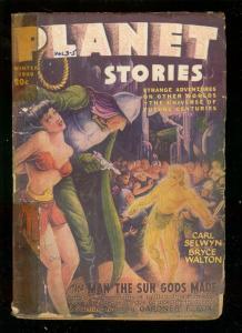PLANET STORIES-WIN '46-FICTION HOUSE GOOD GIRL ART PULP G/VG