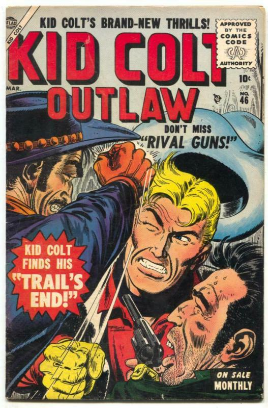 Kid Colt Outlaw #46 1955- Black Rider- 1st Code issue FN+