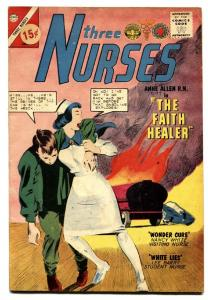 Three Nurses #22 1964-Charlton comic book-Auto Wreck cover