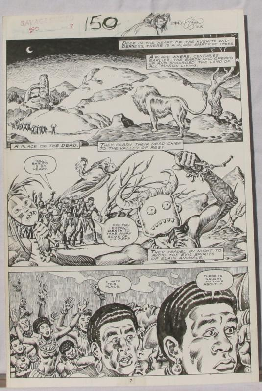ERNIE CHAN Published Original Art SAVAGE SWORD of CONAN #150,pg 7