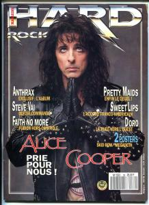 HARD ROCK 0/1990-ALICE COOPER-SKID ROW-MEGADETH-ANTHRAX-FRENCH PRINTING-fn