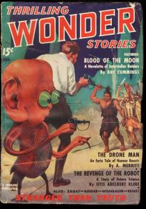 THRILLING WONDER STORIES 1936 AUG-FIRST ISSUE ALIEN COV VG