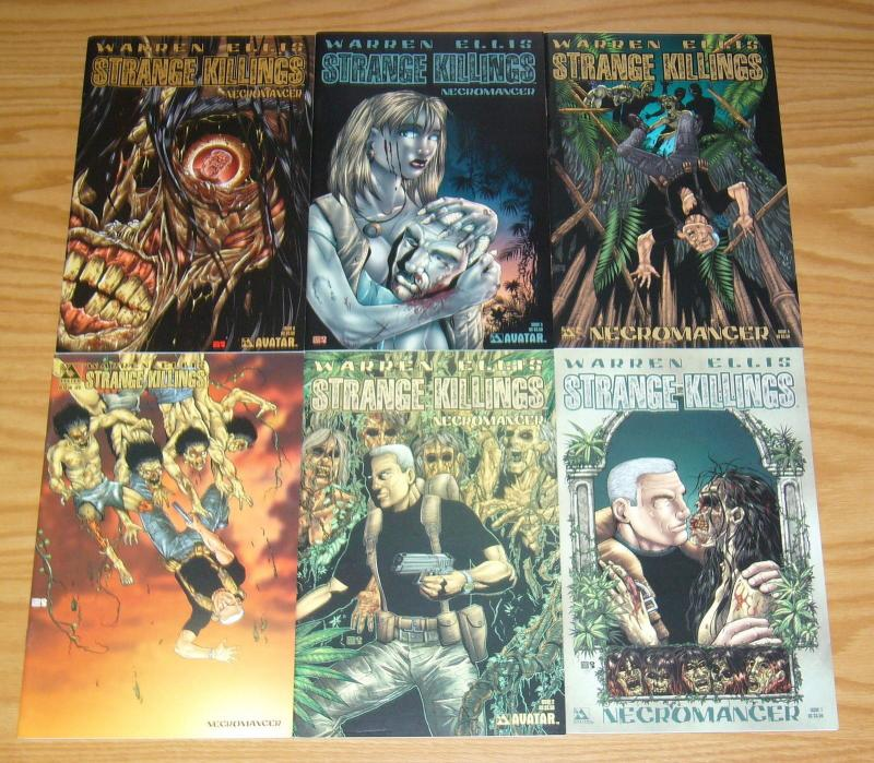 Warren Ellis' Strange Killings: Necromancer #1-6 VF/NM complete series set lot