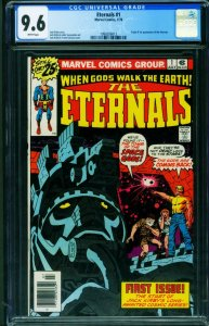 THE ETERNALS #1 CGC 9.6 Jack Kirby First appearance 1976 1998206012